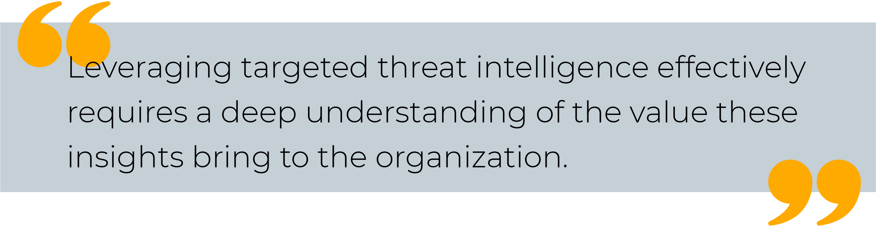 Targeted Threat Intelligence